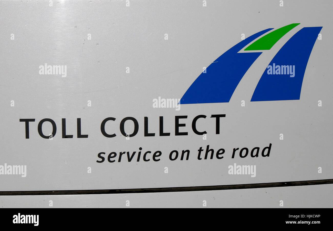 das Logo der Marke 'Toll Collect', Berlin. - Stock Image