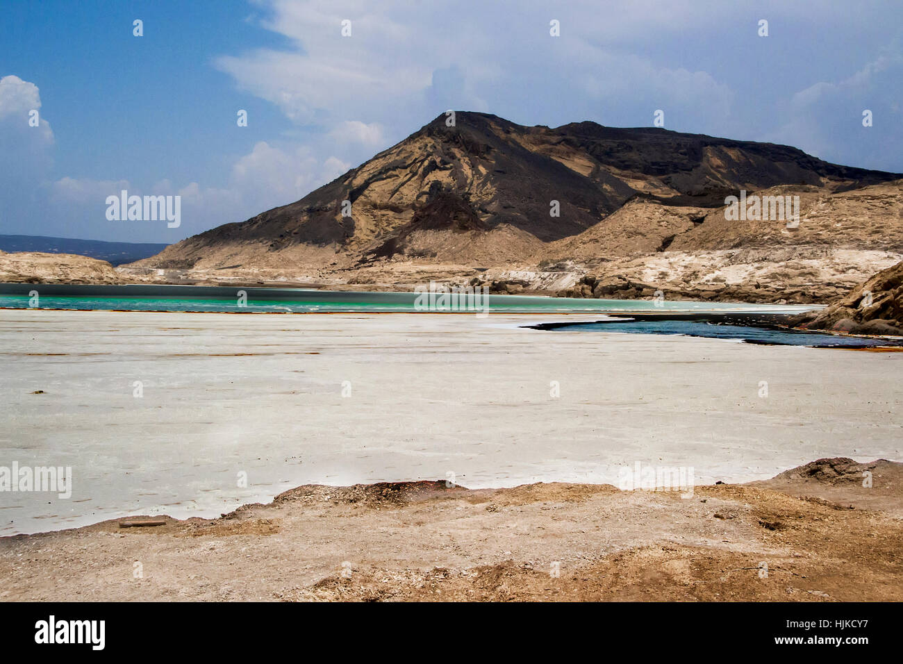 Lac Assal, Djibouti Africa | Salt water lake in Djibouti East Africa - Stock Image