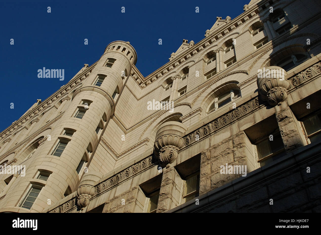 Washington, D.C. Old Post Office. 1889.  Detail of west facade. - Stock Image