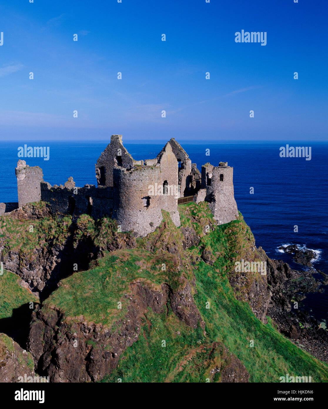Dunluce Castle, County Antrim, Northern Ireland, UK - Stock Image