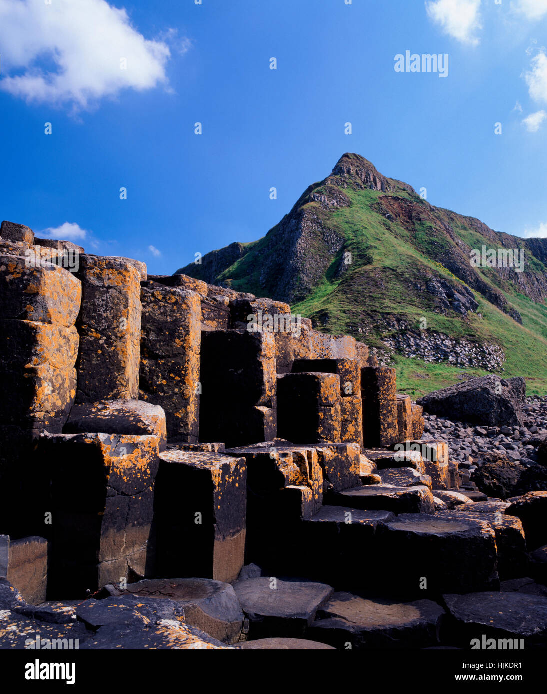 Giants Causeway, County Antrim, Northern Ireland, UK - Stock Image