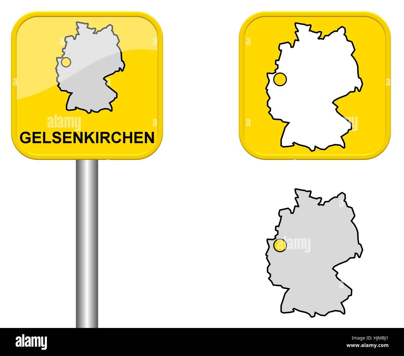 Gelsenkirchen Germany Map.Sign Germany Map And Button Gelsenkirchen Stock Photo 131984553 Alamy