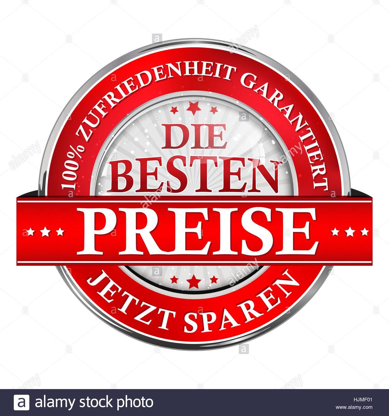 Die Besten Preise, Jetzt Sparen. Garantierte Zufriedenheit. - Geschäft Einzelhandel Band / Etikette - Stock Vector