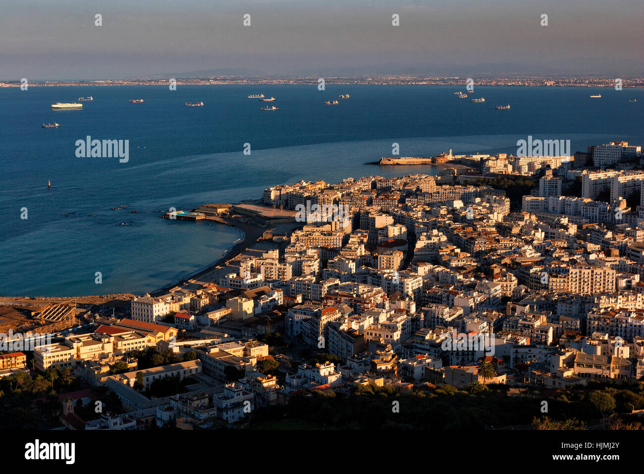 Algeria, Algier, view to the city from above - Stock Image