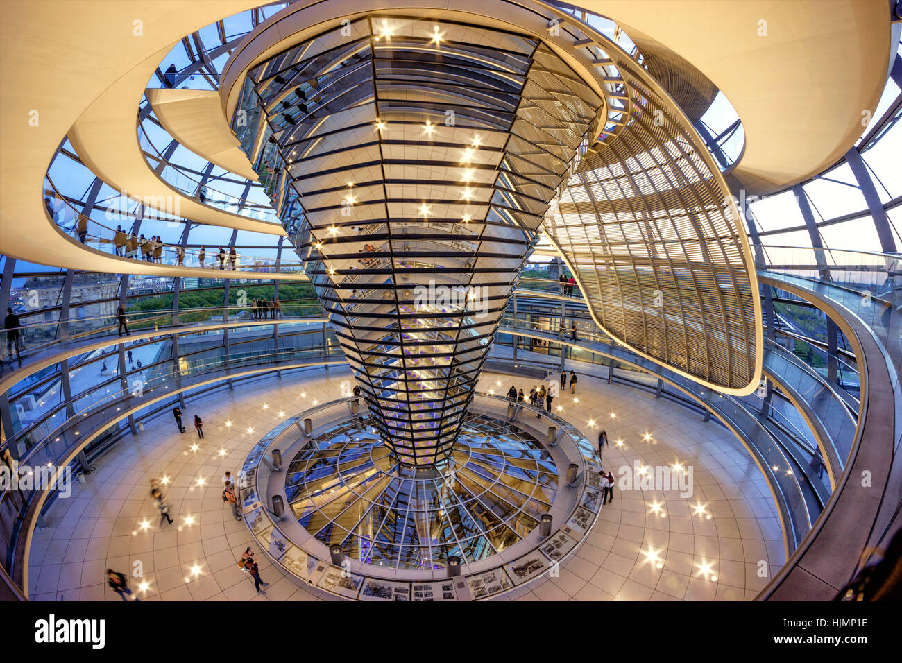 Reichstag buildling , cupola ,Sir Norman Forster ,Berlin, - Stock Image