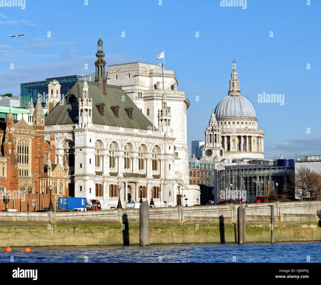 St.Pauls cathedral on the London skyline UK Stock Photo
