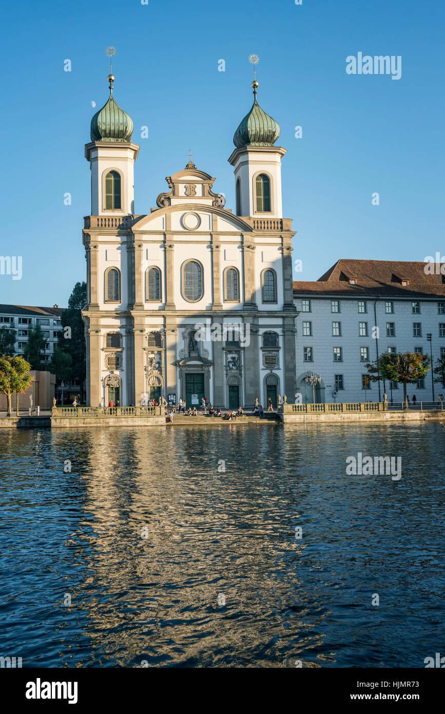 Jesuit Church, Lucerne, Switzerland - Stock Image