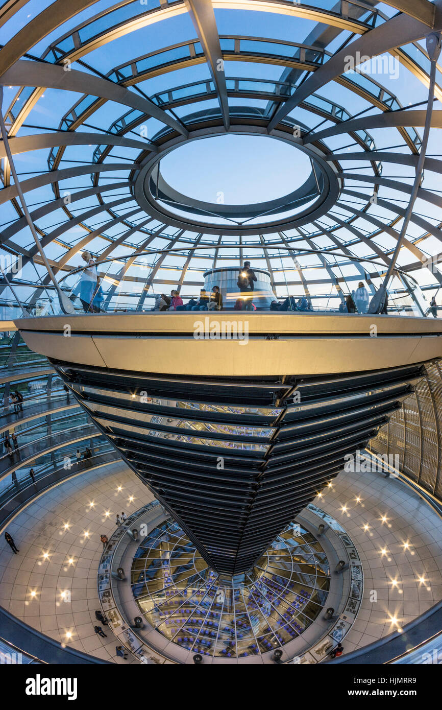 Reichstag buildling , cupola by Sir Norman Forster ,Berlin, Stock Photo