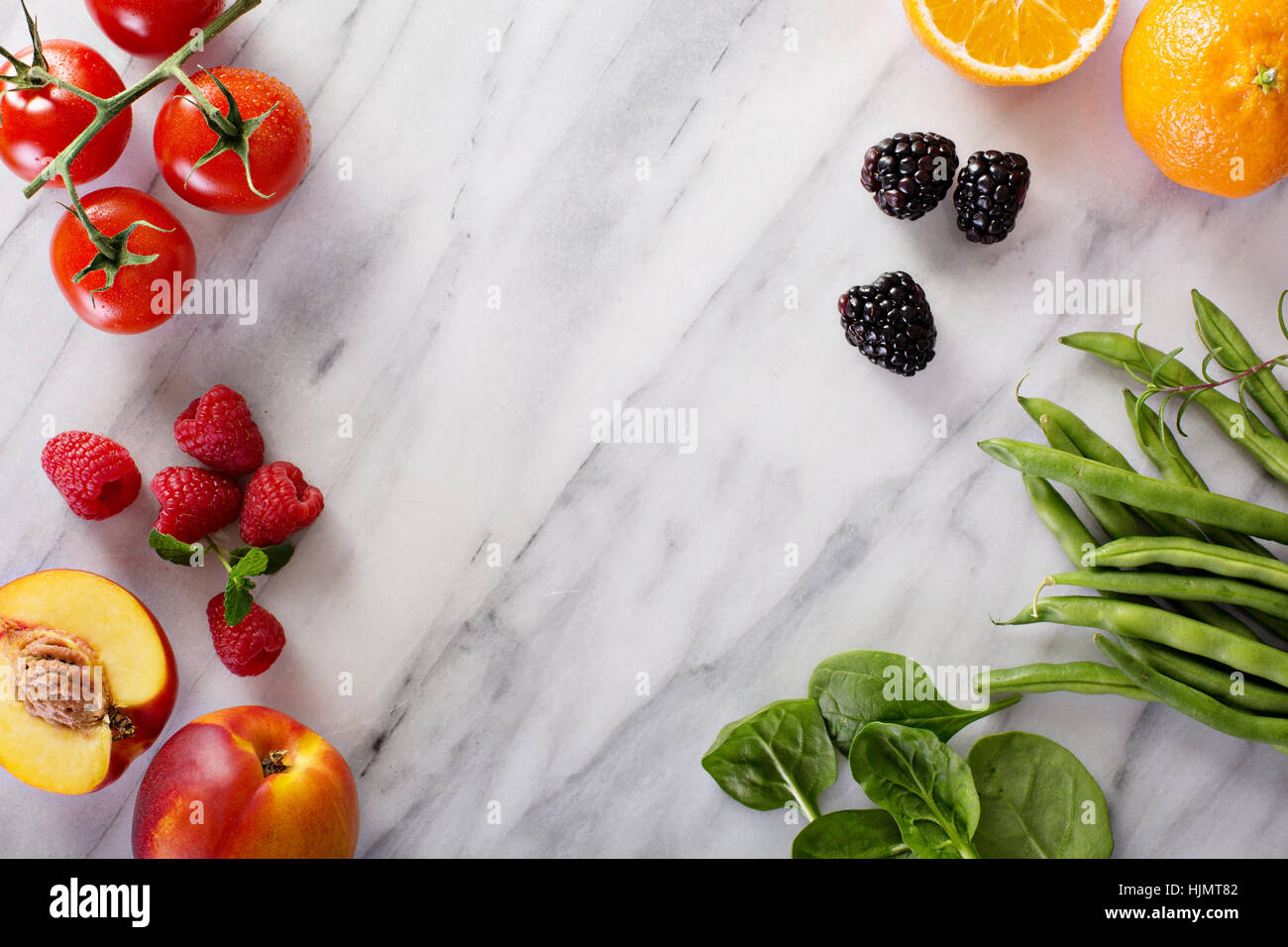 Fruit and vegetable ingredients - Stock Image