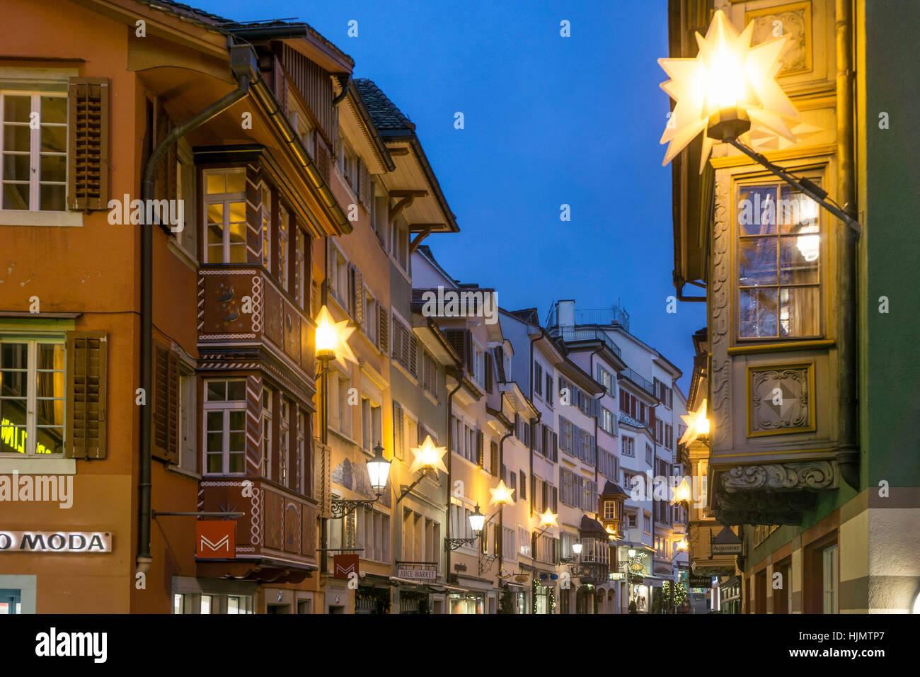 Zürich Weihnachtsbeleuchtung.Weihnachtsbeleuchtung Zürich Stock Photos Weihnachtsbeleuchtung