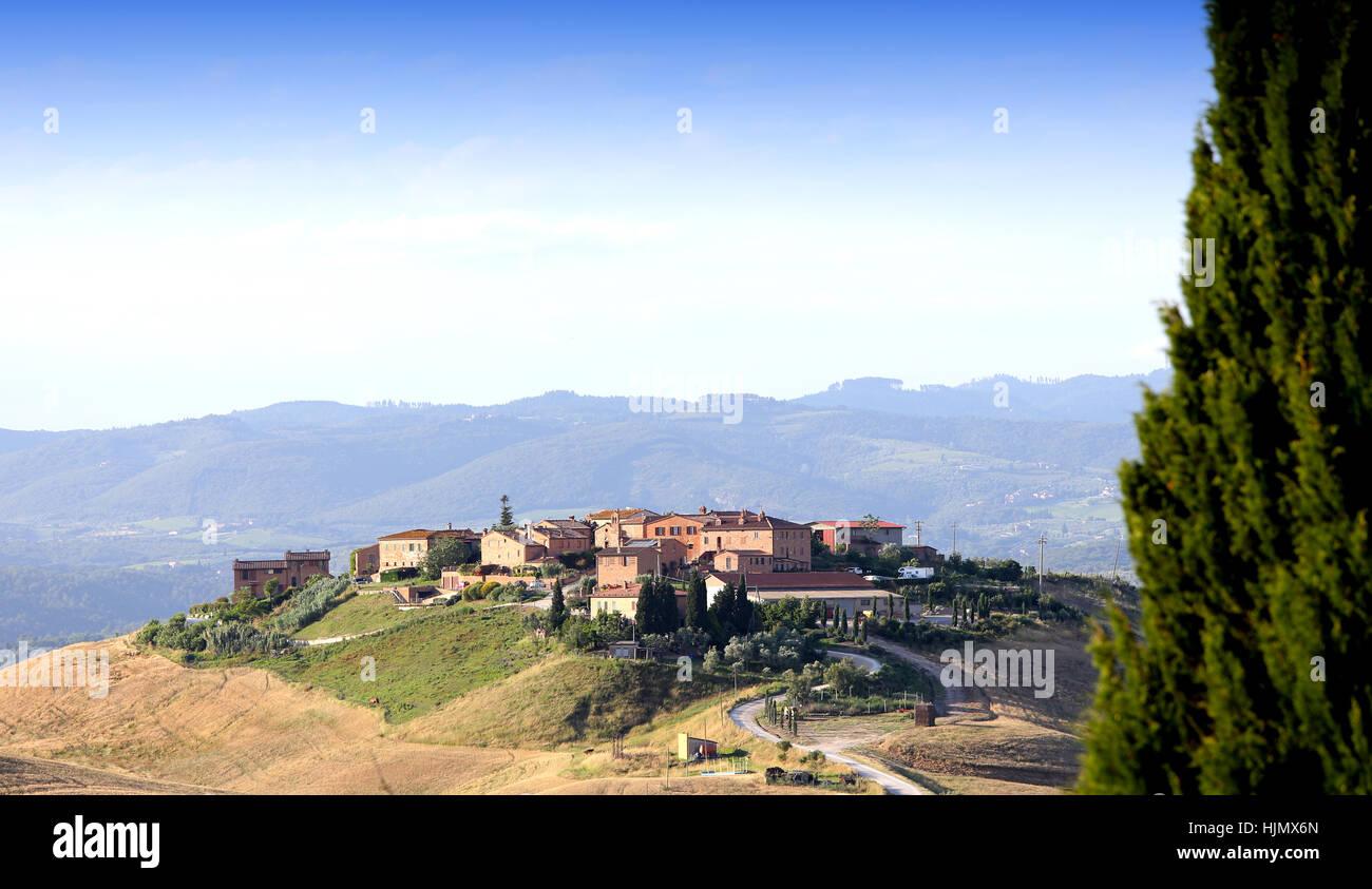 scenic landscapes of Crete Senesi, siena, tuscany, italy Stock Photo