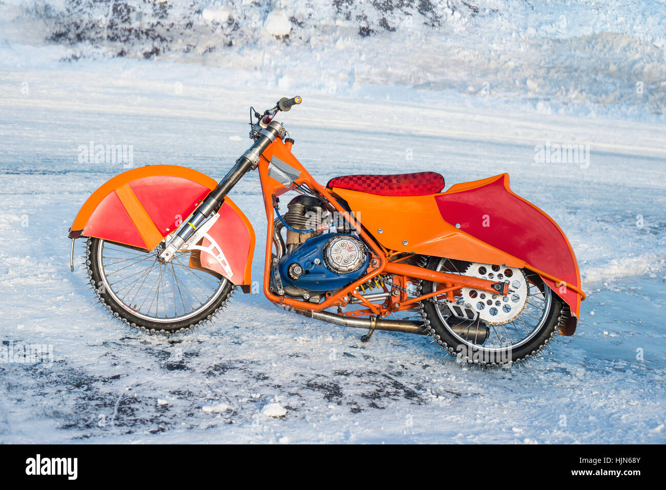 motorcycle for winter Speedway - Stock Image