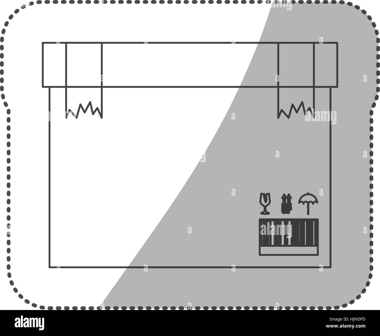 Delivery and logistic icon vector illustraton graphic design - Stock Vector