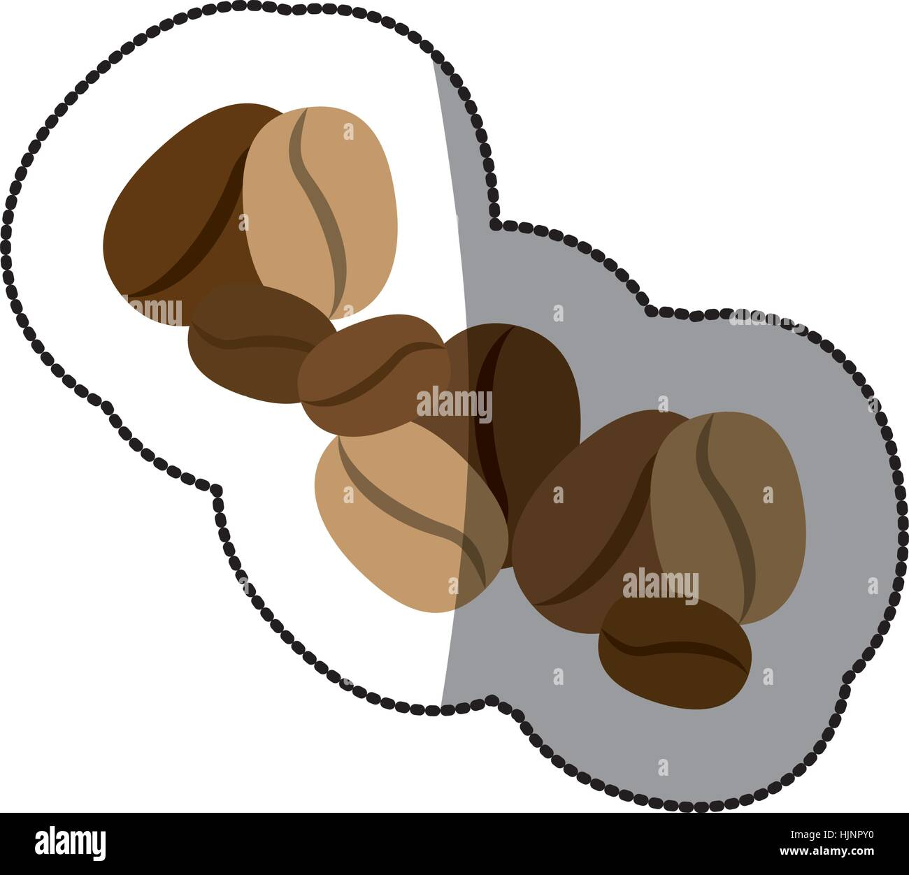 Natural Coffee Beans Icon Vector Illustration Graphic Design Stock