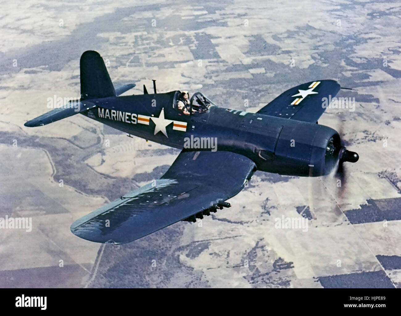 US MARINES VOUGHT CORSAIR  AU-1 in 1952 - Stock Image