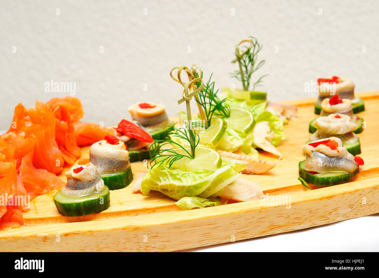 Salmon Food Aliment Cold Plate Decoration Dish Meal Herring