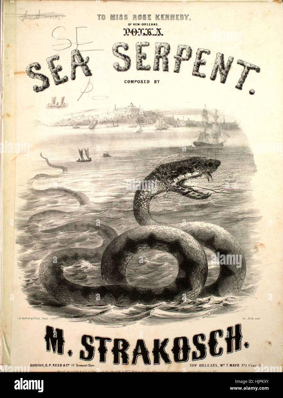Sheet music cover image of the song 'Sea Serpent [damaged copy