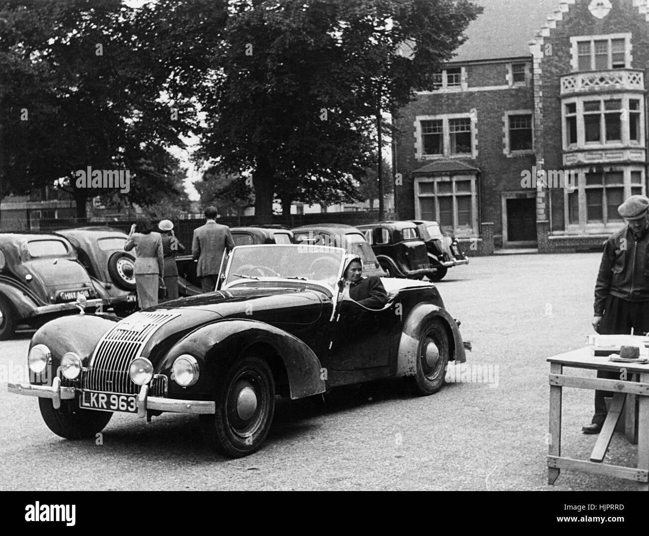 1949 Allard L 4 seater Welsh Rally 12th July 1952 - Stock Image