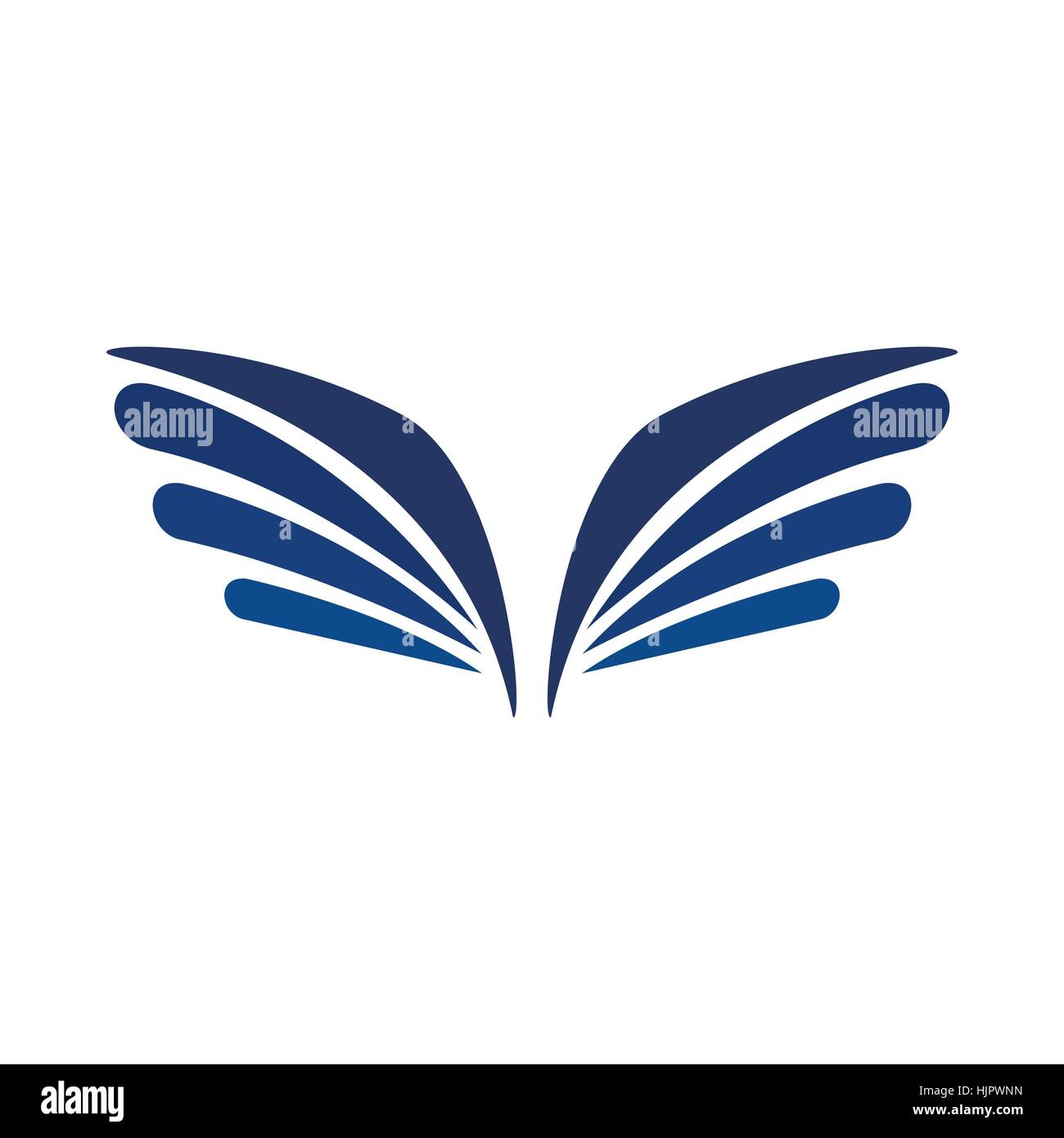 a pair of eagle wings icon in simple style isolated on white stock vector image art alamy alamy