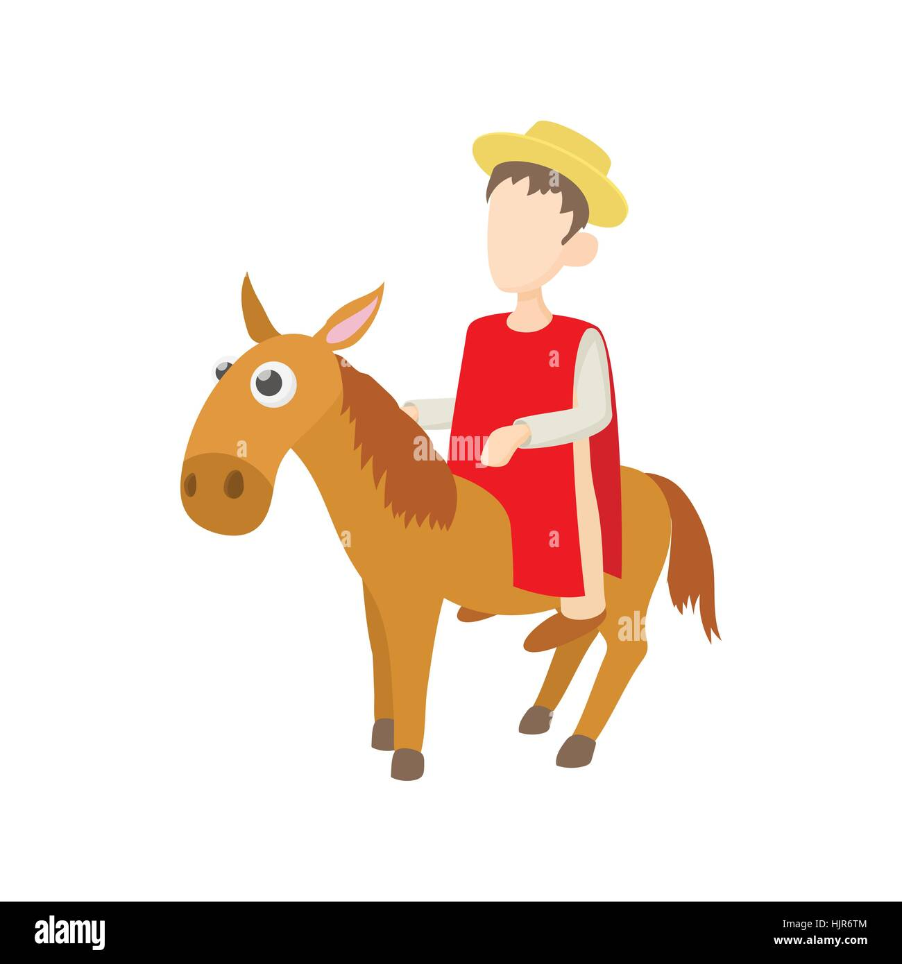 Riding Donkey Cut Out Stock Images & Pictures - Alamy