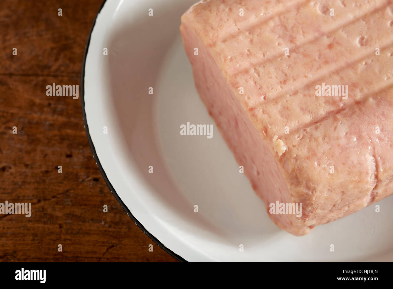 uncooked Spam - Stock Image