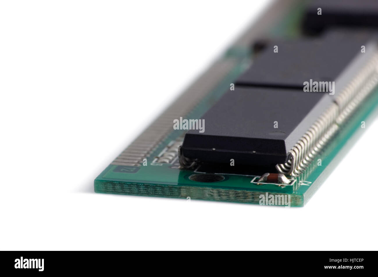 Memory Card Chip Macro Isolated Closeup - Stock Image