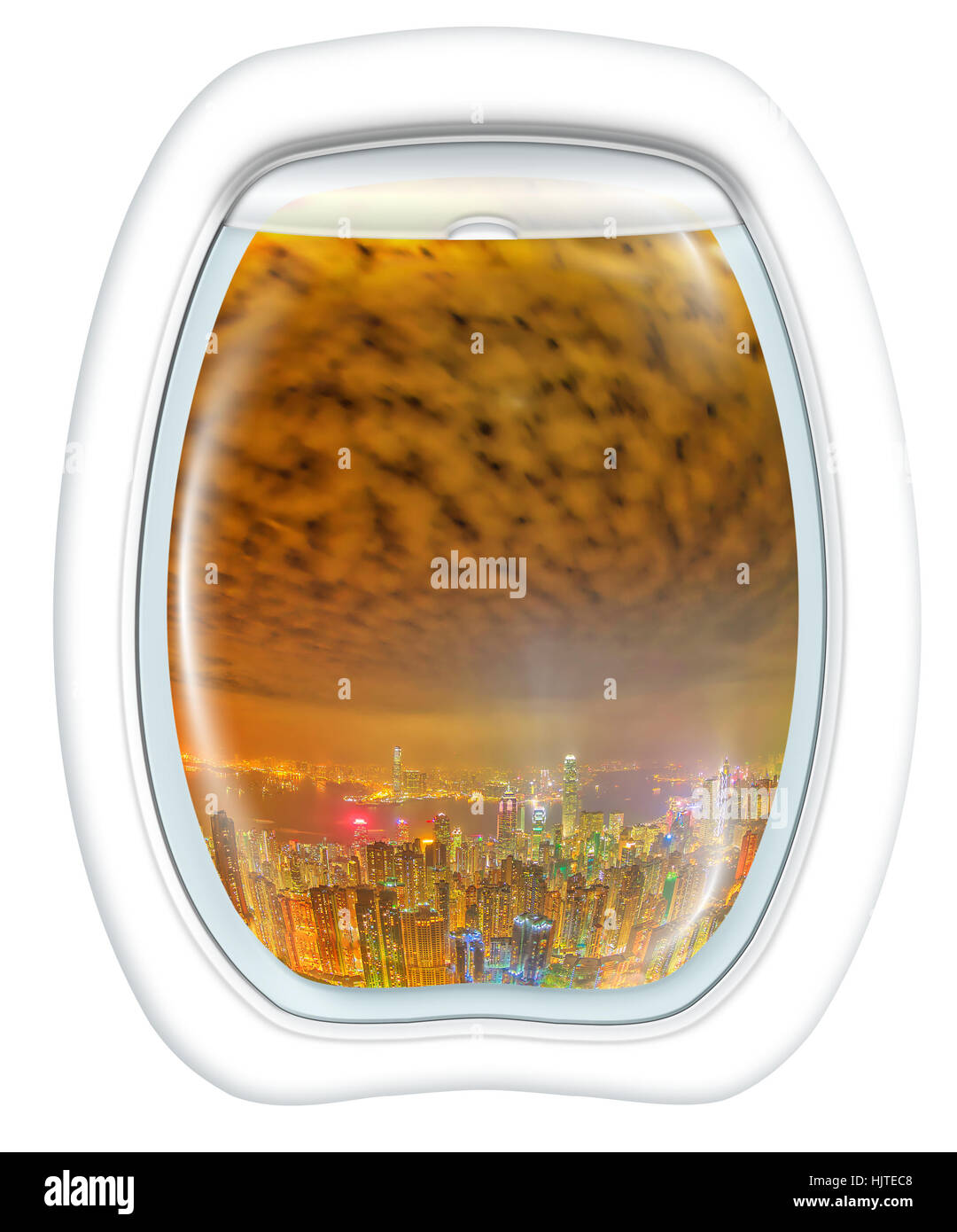 Hong Kong Scenic Flight - Stock Image