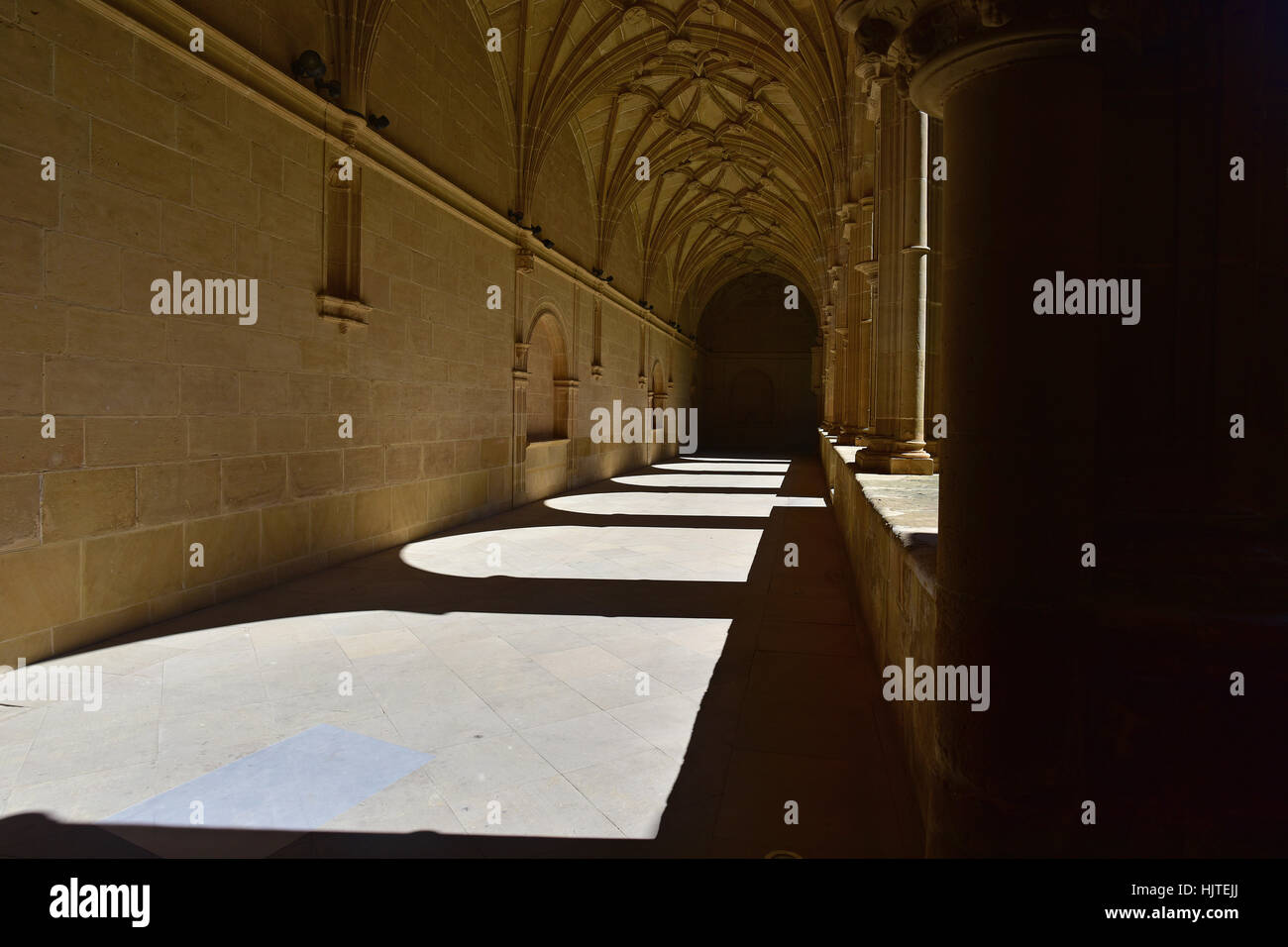 Spanish Cloister outdoor passageway. - Stock Image