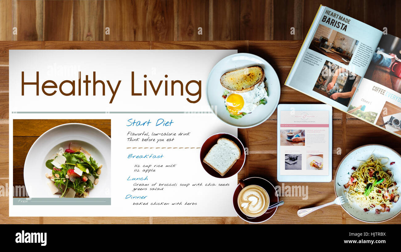 Diet Plan Healthy Living Concept Stock Photo: 132081598 - Alamy