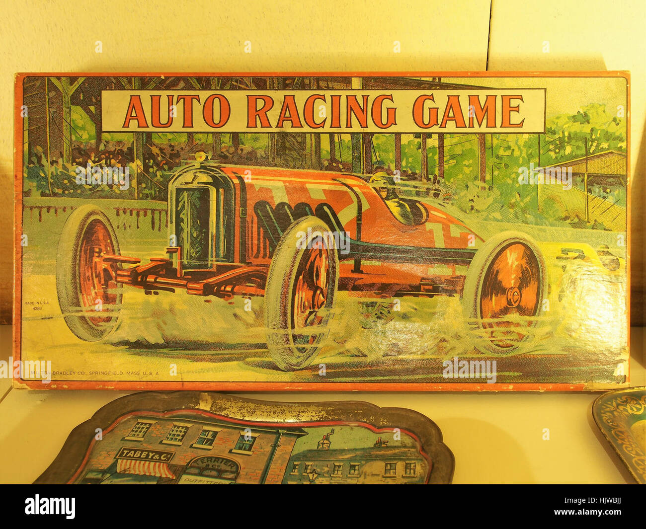 Auto Racing Game in the Louwman museum Stock Photo