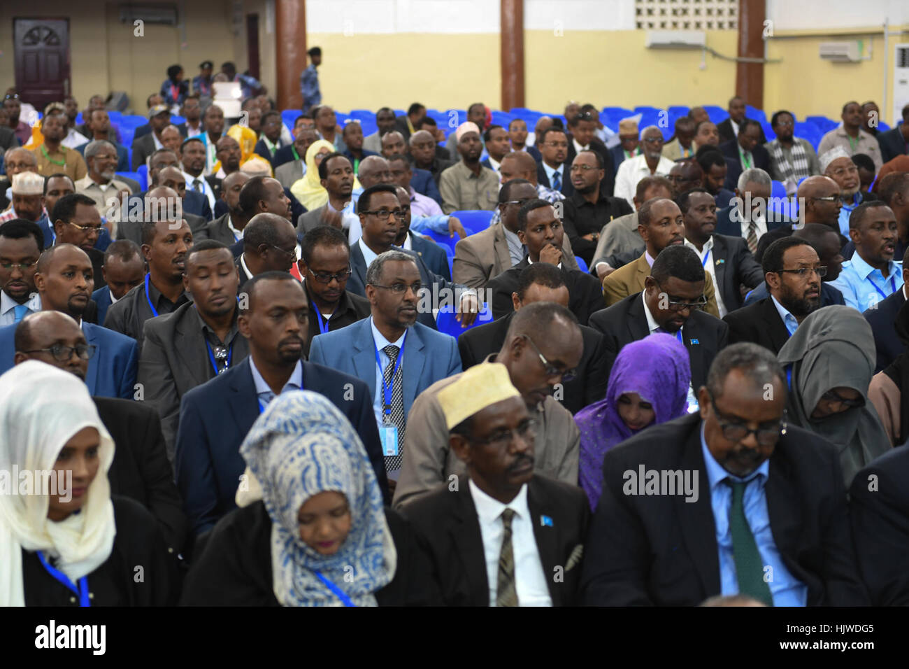 Newly elected members of parliament of the Somali federal