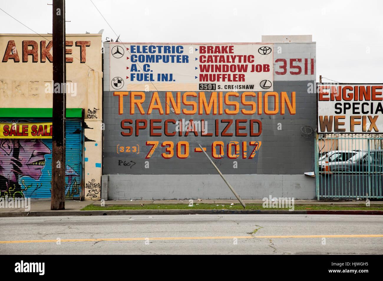 Crenshaw Boulevard, South Los Angeles, Los Angeles, California, USA - Stock Image
