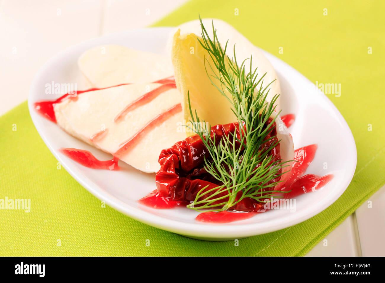 vegetarian dairy - Stock Image