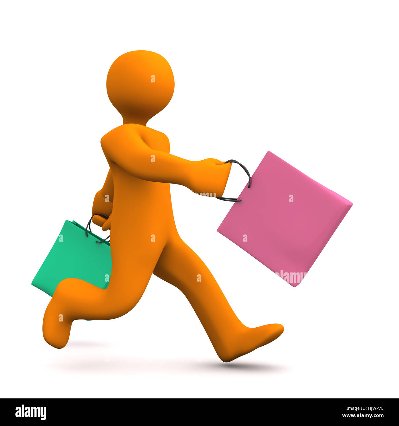 guy, woman, object, fashion, colour, person, illustration, shopping, gift, - Stock Image