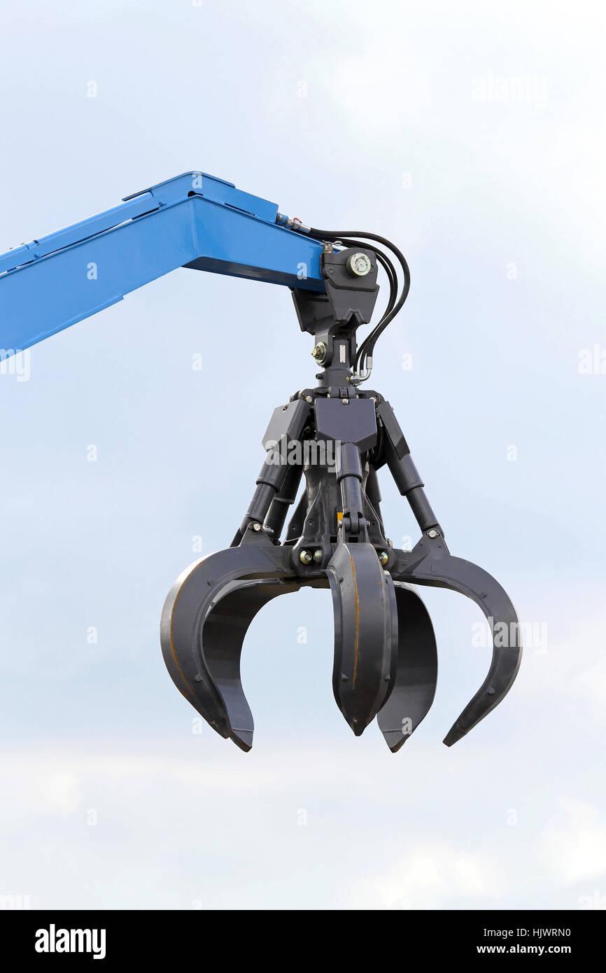 industrial machinery claw equipment hydraulic arm construction crane  Stock Photo - Alamy