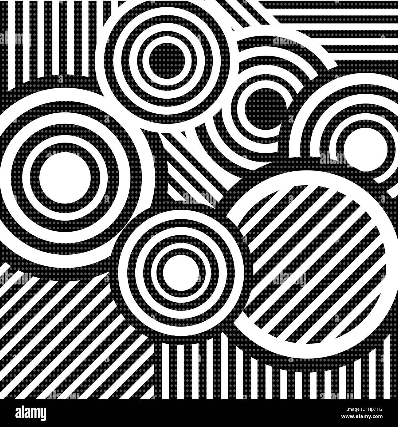 Retro Wallpaper Black And White Stock Photos Images Alamy