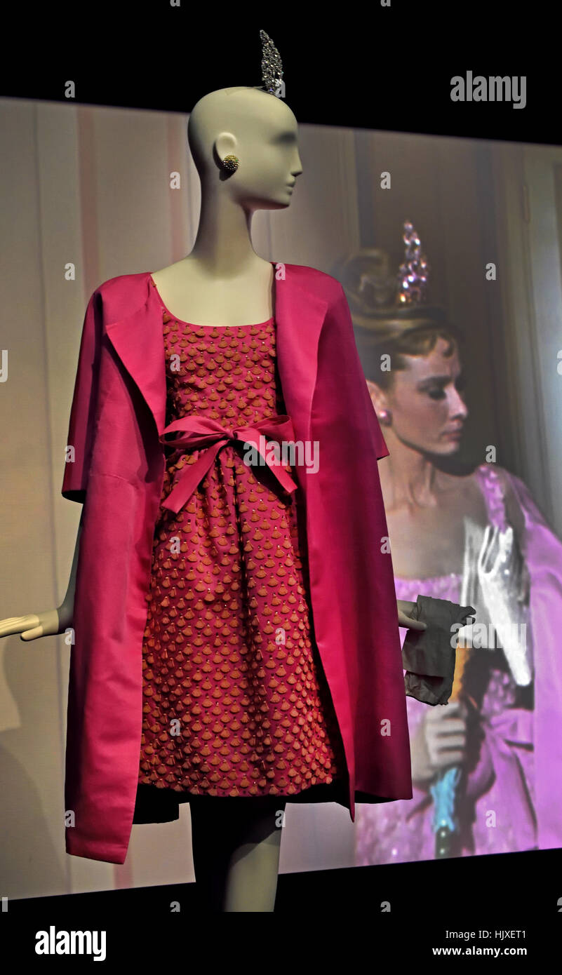 Hubert de Givenchy ( Couturier ) France worn by Audrey Hepburn ( Movie Star ) In Breakfast at Tiffany`s - Stock Image