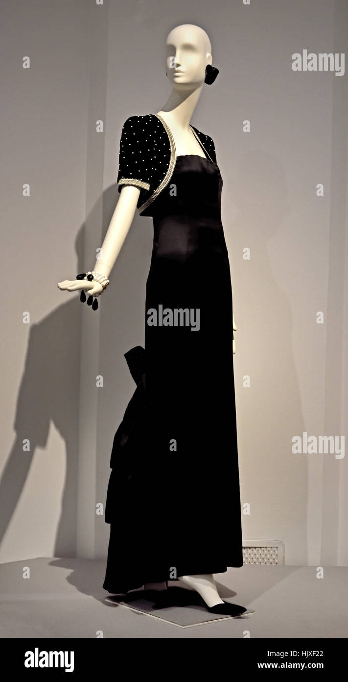 Hubert de Givenchy ( Couturier ) France Evening Ensemble of Audrey Hepburn 1987  ( Movie Star ) United Kingdom - Stock Image
