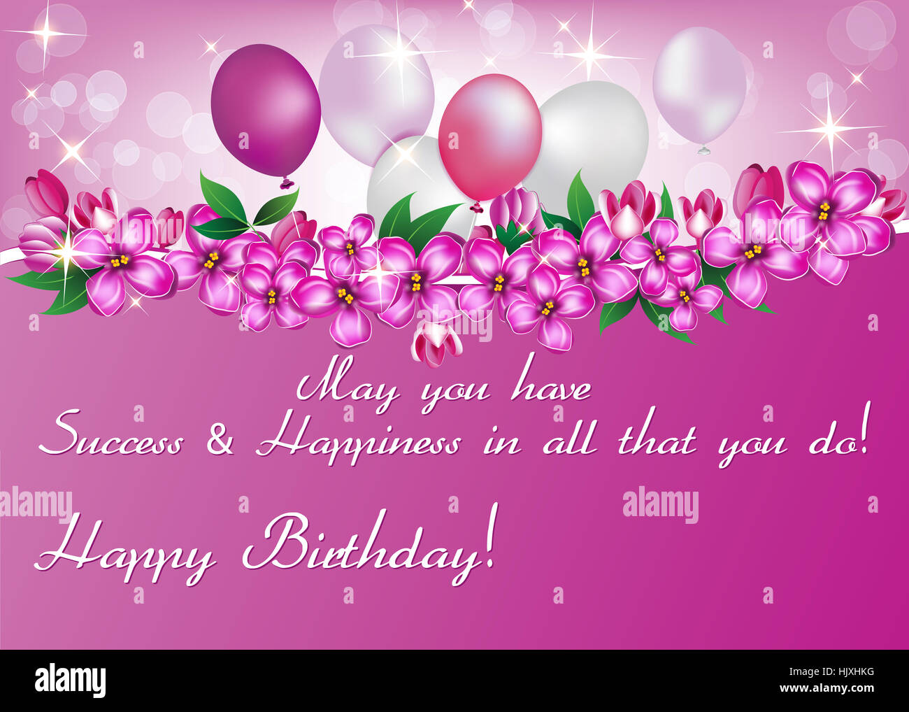 elegant birthday card also for print happy birthday elegant greeting card contains balloons flowers and presents
