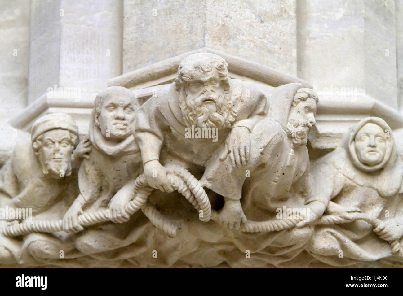Culot. The Holy Chapel. Vincennes Castle. - Stock Image