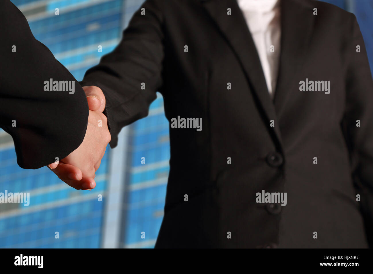 Business handshake, Business deal finalized, Congratulations Concept - Stock Image