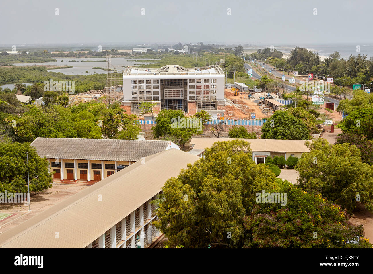 Construction of the National Assembly building, Banjul, Gambia - Stock Image