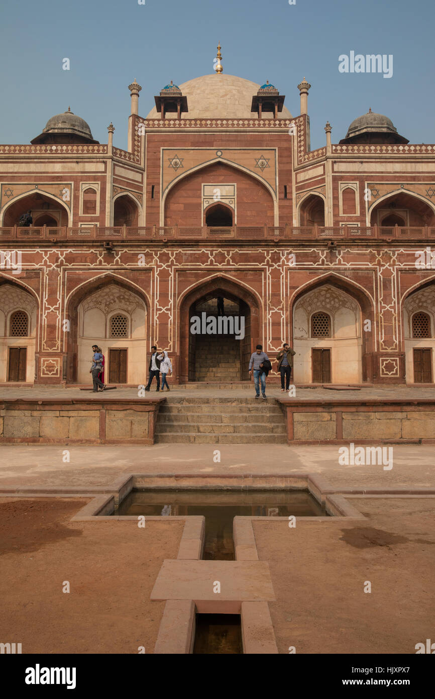 General view of Humayun's Tomb in New Delhi, India, the tomb of the Mughal Emperor Humayun. - Stock Image