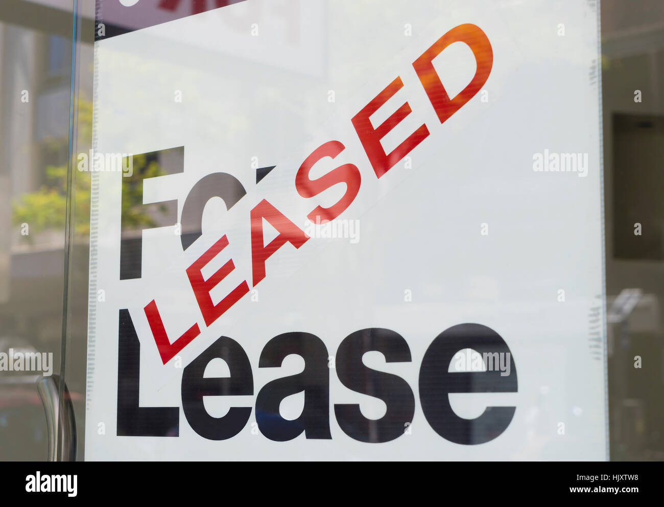 For lease and leased sign - Stock Image