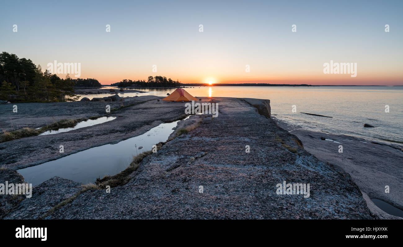 Dawn at the southern tip of Emäsalo, Porvoo, Finland, Europe, EU - Stock Image
