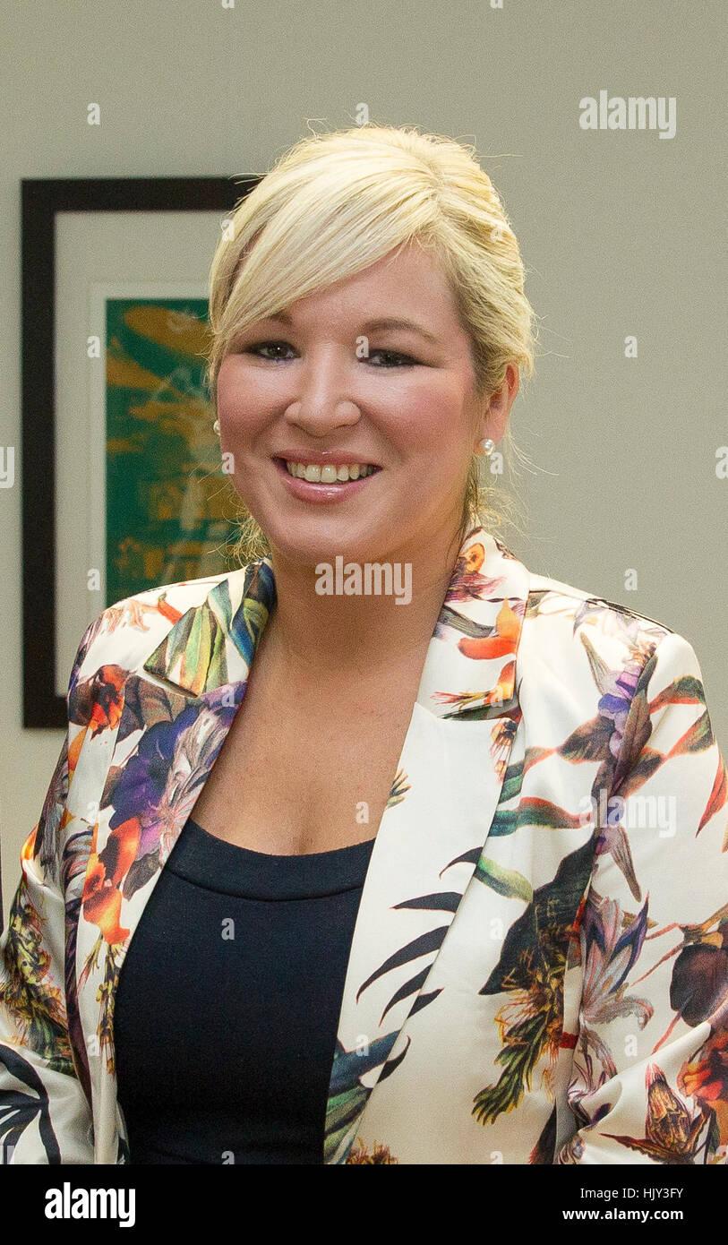 Michelle O'Neill MLA Sinn Féin northern ireland uk - Stock Image