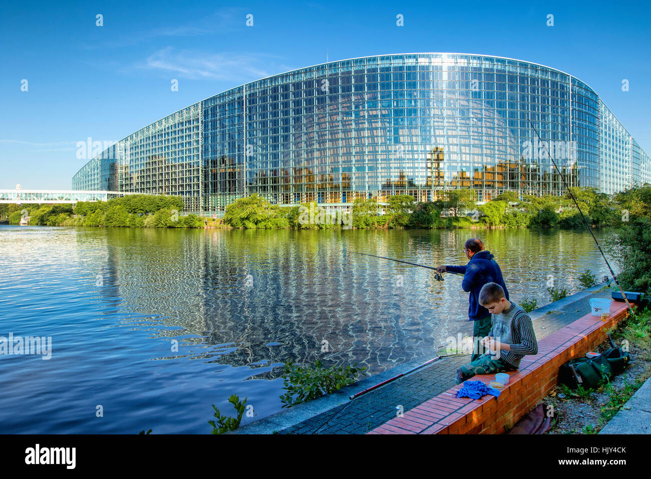 European Parliament building in Strasbourg - Stock Image