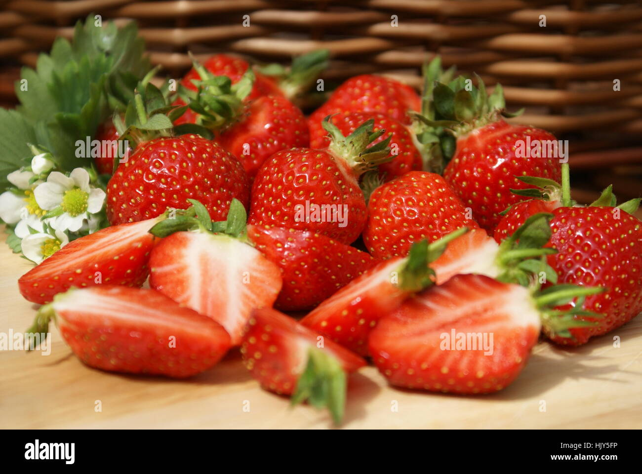 healthy strawberries Stock Photo