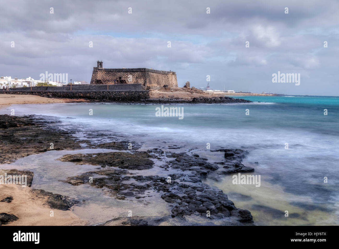 Castillo de San Gabriel, Arrecife, Lanzarote, Canary Islands, Spain Stock Photo