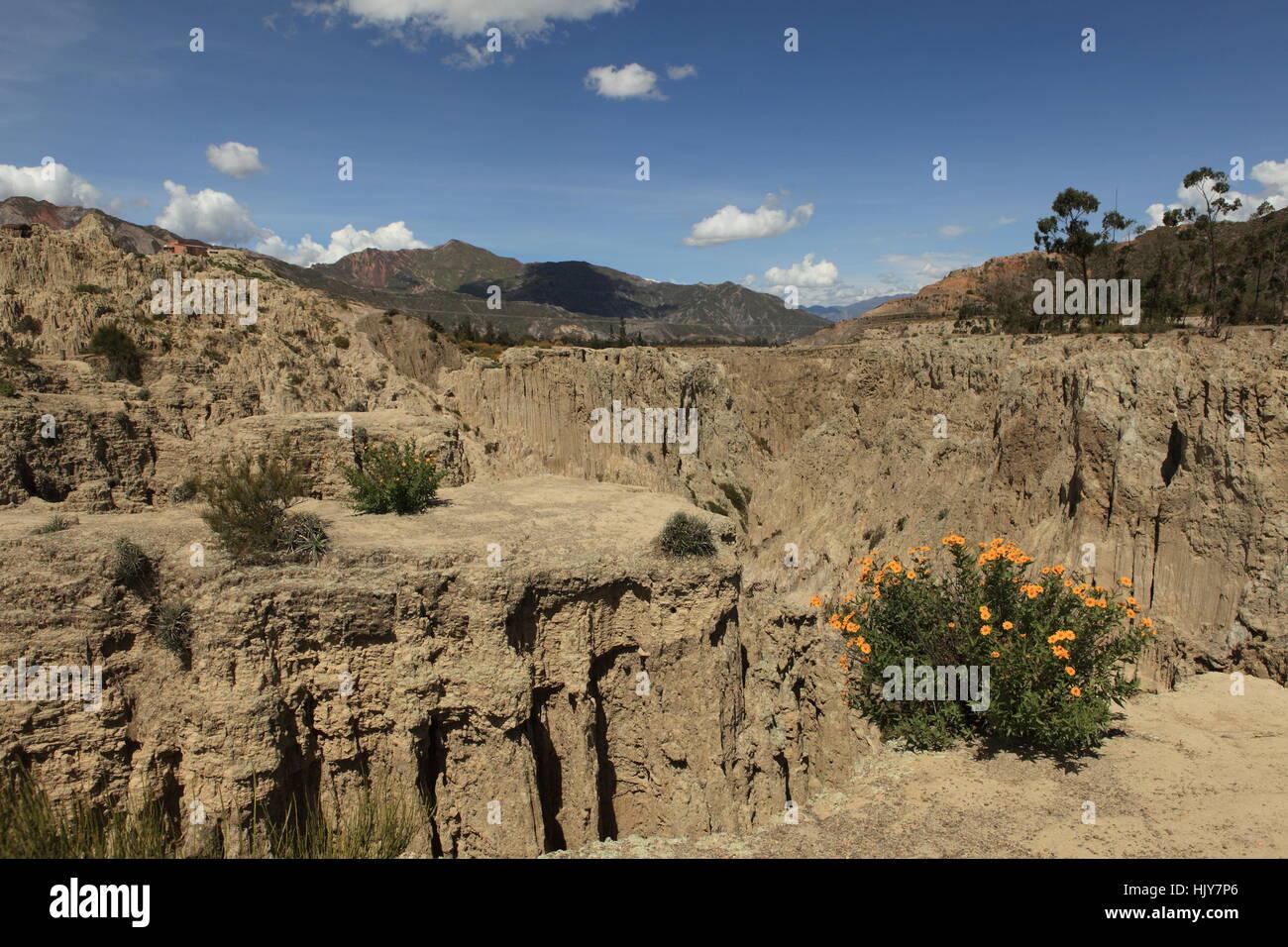 valley of the moon valle de la luna bolivia Stock Photo
